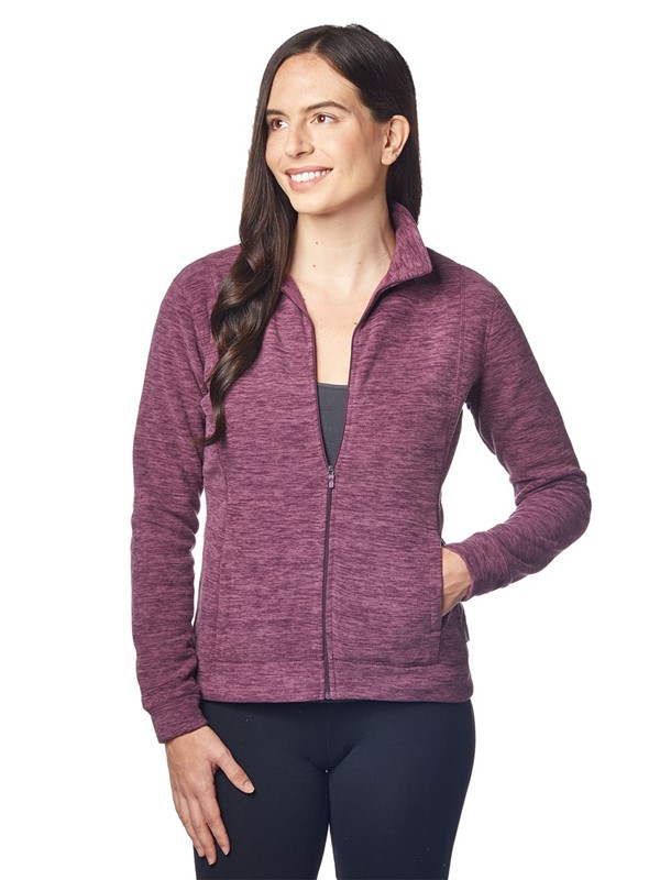 Ladies Marled Fleece Jacket