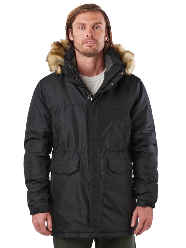 Insulated Parka with Faux Fur